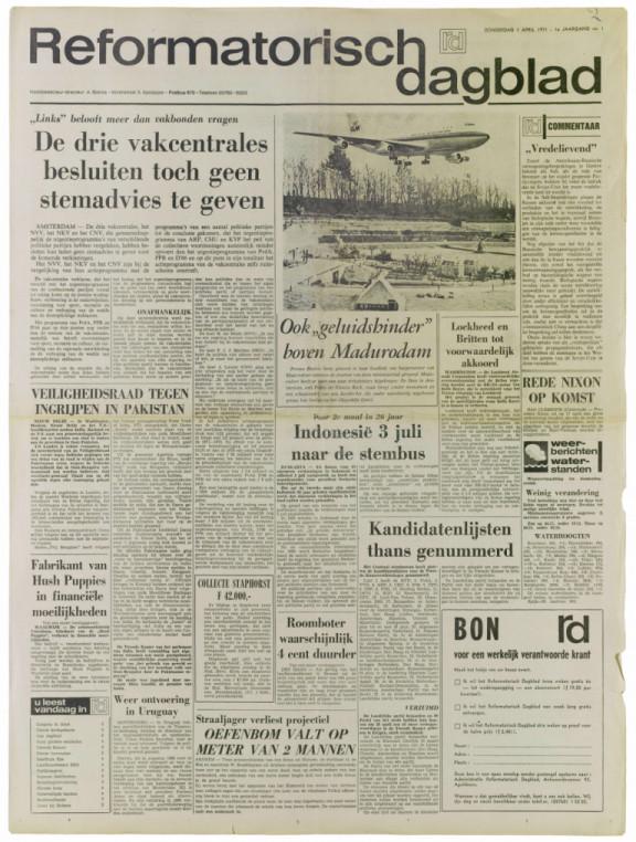 Reformatorisch Dagblad - RD 1e jrg nr 1